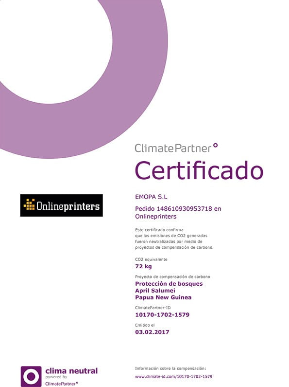 Certificado CO2 Neutral